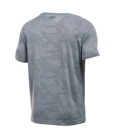 UNDER ARMOUR TECH JACQUARD SS SR T-SHIRT STEEL GREY