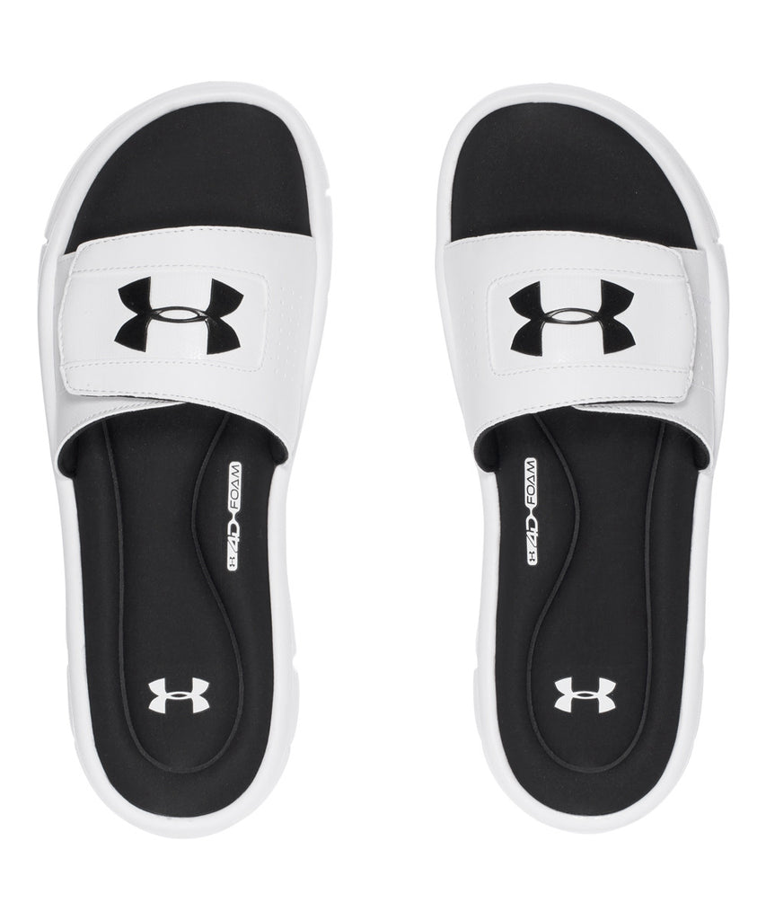 pretty nice 01e3d 3613d UNDER ARMOUR IGNITE V MEN S SLIDE SANDALS WHITE – Pro Hockey Life