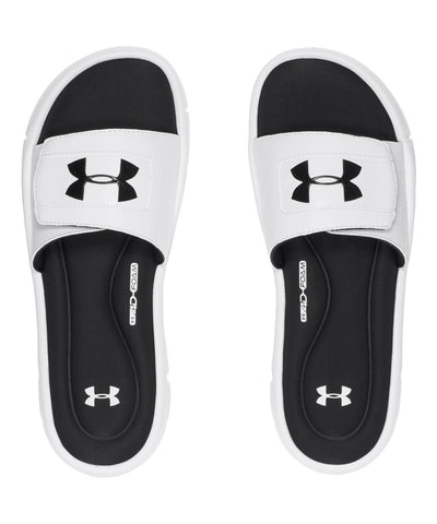 UNDER ARMOUR IGNITE V MEN'S SLIDE SANDALS WHITE