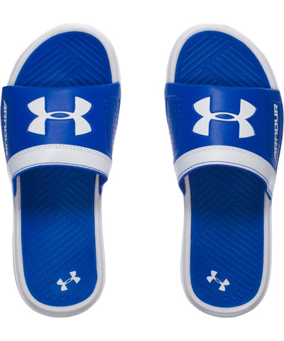 UNDER ARMOUR PLAYMAKER VI BOYS SANDALS WHITE