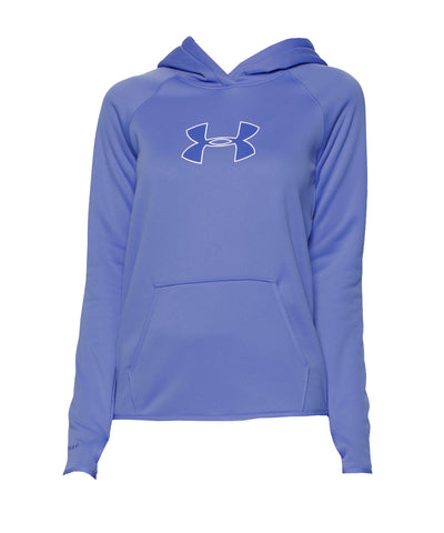 UNDER ARMOUR STORM ARMOUR LOGO WOMEN'S HOODIE VIOLET