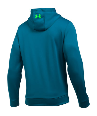 UNDER ARMOUR STORM ARMOUR FLEECE LOGO MEN'S HOODIE PEACOCK BLUE