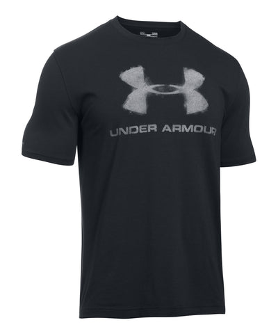 UNDER ARMOUR CHALKED SPORTSTYLE LOGO MEN'S T-SHIRT BLACK
