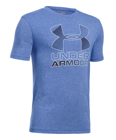 UNDER ARMOUR BIG LOGO HYBRID 2.0 BOYS T-SHIRT BLUE