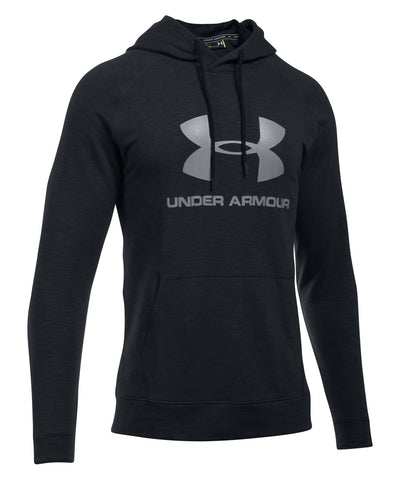 UNDER ARMOUR SPORTSTYLE TRIBLEND MEN'S PULLOVER HOODY BLACK