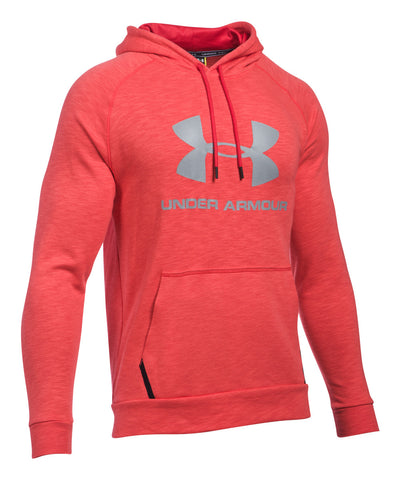 UNDER ARMOUR SPORTSTYLE TRIBLEND MEN'S PULLOVER HOODY RED