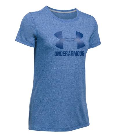 UNDER ARMOUR THREADBORNE TRAINING SPIRIT WOMEN'S T-SHIRT BLUE