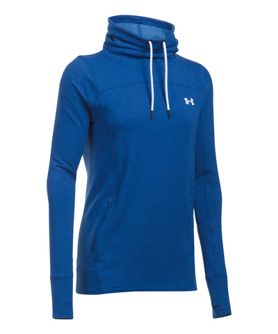 UNDER ARMOUR FEATHERWEIGHT FLEECE SLOUCHY WOMEN'S HOODIE BLUE