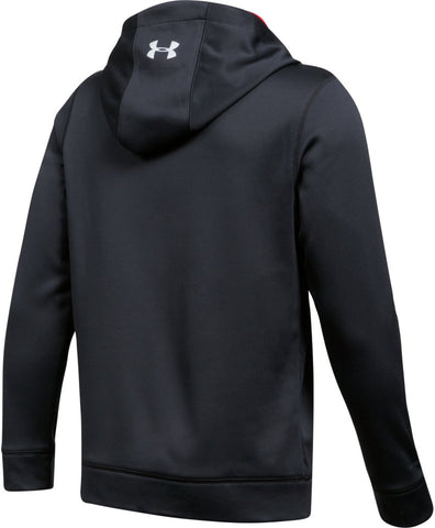 UNDER ARMOUR JR HOCKEY WORDMARK HOODY 2.0 BLACK