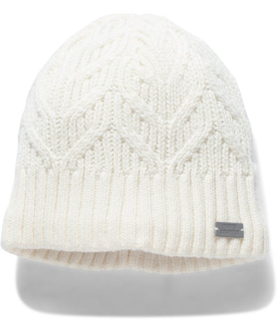 UNDER ARMOUR UA AROUND TOWN BEANIE WHITE