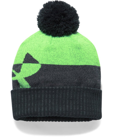 UNDER ARMOUR BOY'S POM BEANIE ANTHRACITE