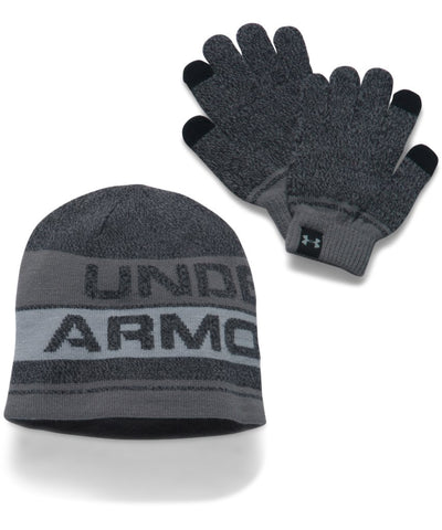 UNDER ARMOUR BOYS BEANIE GLOVE COMBO 2.0 BLACK