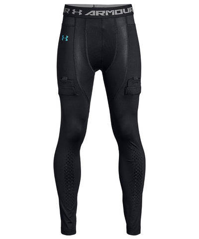 UNDER ARMOUR JR COMPRESSION LEGGINGS - BLACK