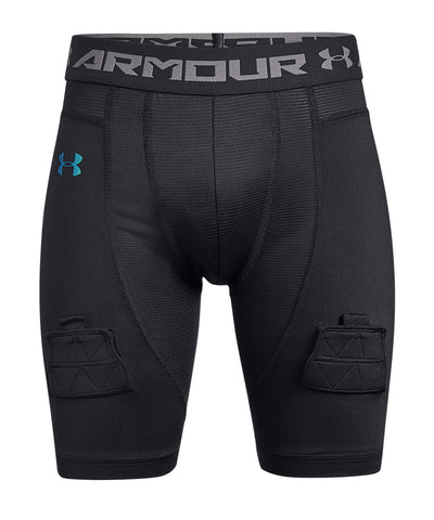 UNDER ARMOUR JR FITTED SHORTS - BLACK