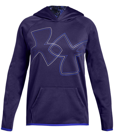 UNDER ARMOUR GIRL'S AF HOODIE DUAL LOGO - PURPLE