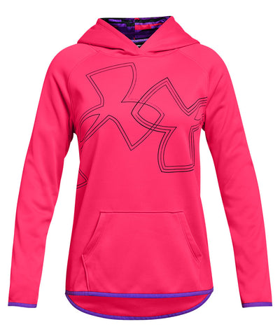 UNDER ARMOUR GIRL'S AF HOODIE DUAL LOGO - PINK