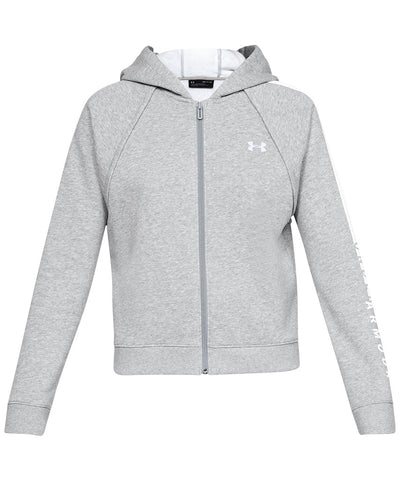 UNDER ARMOUR WOMEN'S RIVAL FLEECE FZ HOODIE - GREY