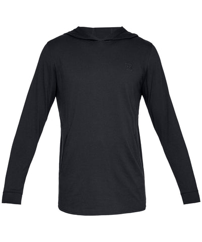 UNDER ARMOUR MEN'S RIVAL JERSEY HOODIE - BLACK