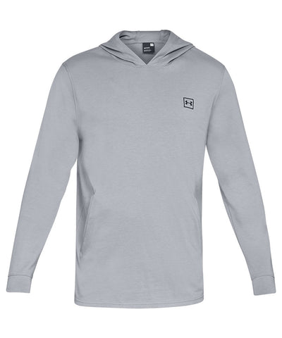 UNDER ARMOUR MEN'S RIVAL JERSEY HOODIE - GREY