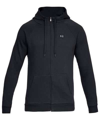 UNDER ARMOUR MEN'S RIVAL FLEECE FZ HOODIE - BLACK