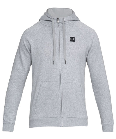 UNDER ARMOUR MEN'S RIVAL FLEECE FZ HOODIE - GREY