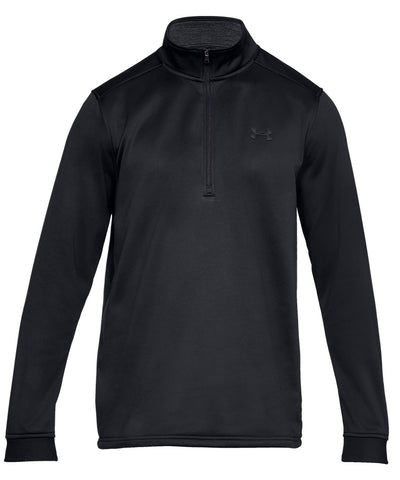 UNDER ARMOUR MEN'S ARMOUR FLEECE 1/2 ZIP - BLACK