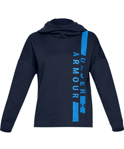 UNDER ARMOUR WOMEN'S RIVAL FLEECE PO HOODIE WM - NAVY