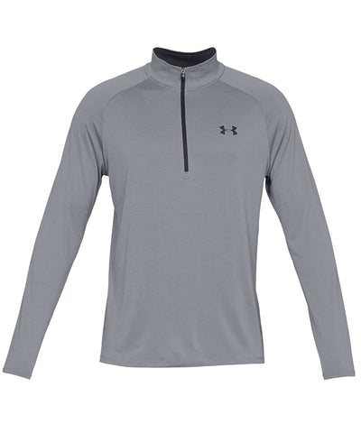 UNDER ARMOUR MEN'S TECH HALF ZIP TOP - GREY