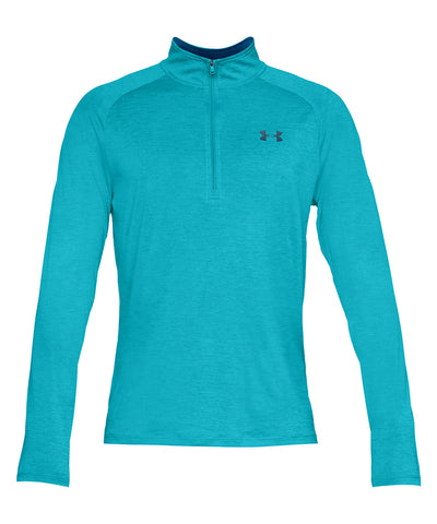 UNDER ARMOUR MEN'S TECH HALF ZIP TOP - BLUE
