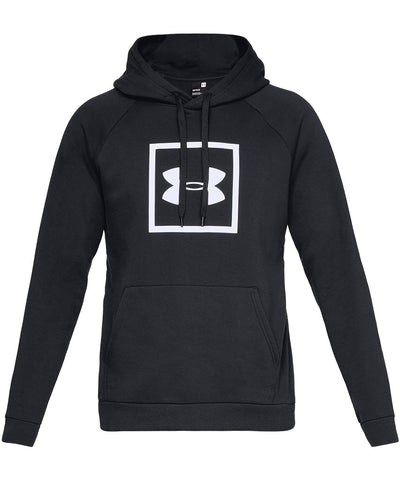 UNDER ARMOUR MEN'S RIVAL FLEECE LOGO HOODIE - BLACK