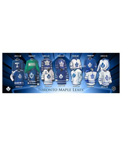 FRAMEWORTH TORONTO MAPLE LEAFS 5X15 PLAQUE