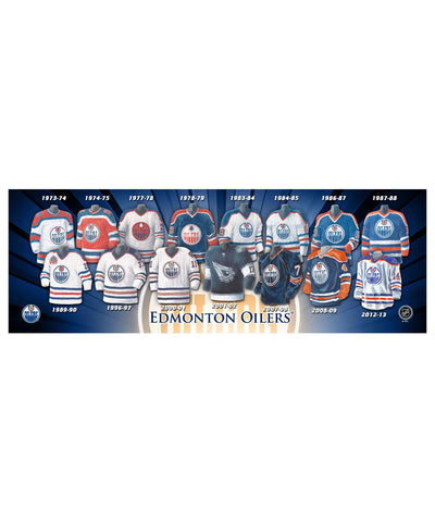 FRAMEWORTH EDMONTON OILERS 5X15 PLAQUE