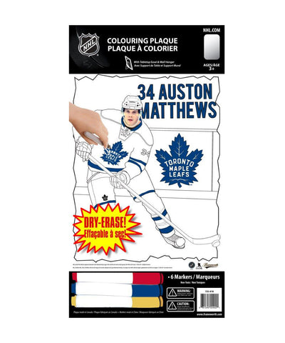 FRAMEWORTH TORONTO MAPLE LEAFS MATTHEWS 8X10 COLOURING PLAQUE