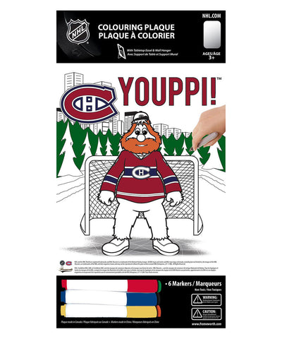 FRAMEWORTH MONTREAL CANADIENS YOUPPI! 8X10 COLOURING PLAQUE