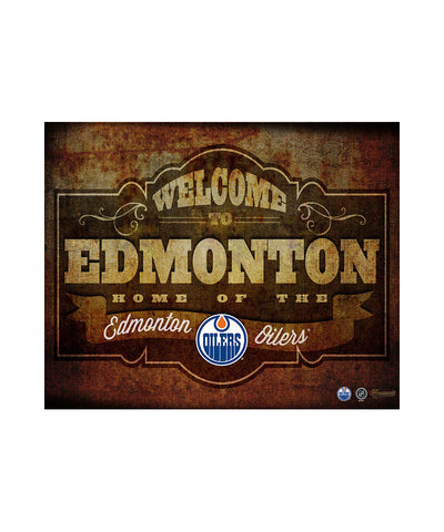 FRAMEWORTH EDMONTON OILERS 11X14 PLAQUE