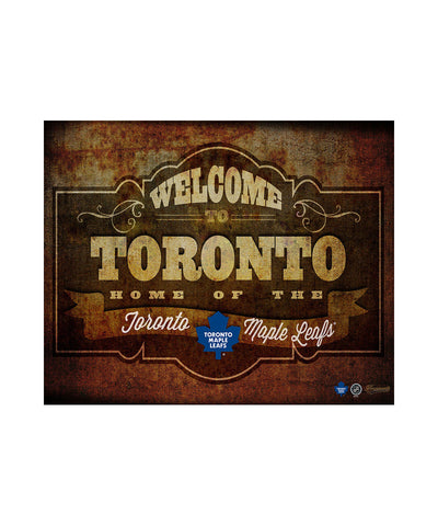 FRAMEWORTH TORONTO MAPLE LEAFS 11X14 PLAQUE