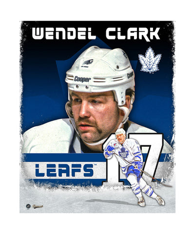 FRAMEWORTH TORONTO MAPLE LEAFS WENDEL CLARK 11X14 PLAQUE