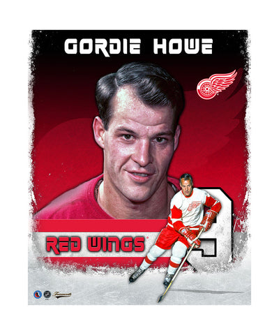 FRAMEWORTH DETROIT RED WINGS GORDIE HOWE 11X14 PLAQUE
