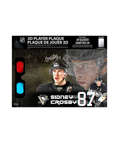 FRAMEWORTH PITTSBURGH PENGUINS SIDNEY CROSBY 8.5X14 3D PLAQUE