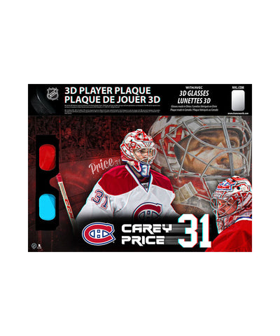 FRAMEWORTH MONTREAL CANADIENS CAREY PRICE 8.5X14 3D PLAQUE