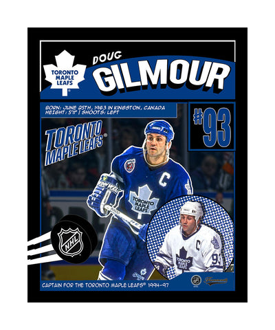 FRAMEWORTH TORONTO MAPLE LEAFS DOUG GILMOUR 16X20 PLAQUE