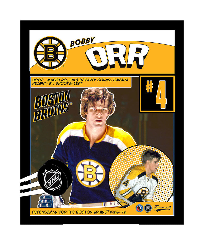 buy popular 4761e abc6a FRAMEWORTH BOSTON BRUINS BOBBY ORR 16X20 PLAQUE – Pro Hockey ...