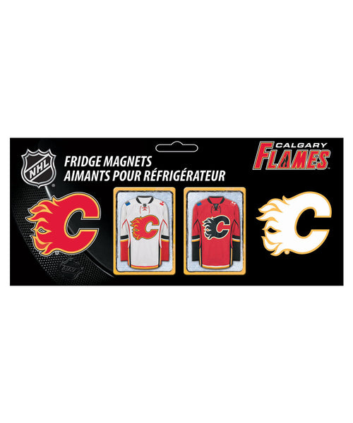 FRAMEWORTH CALGARY FLAMES 2PC MAGNET SET
