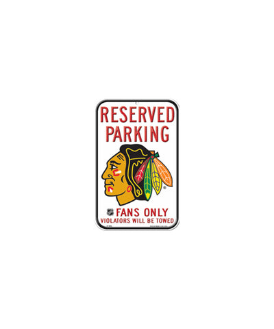 CHICAGO BLACKHAWKS RESERVED PARKING SIGN
