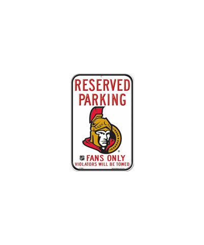 OTTAWA SENATORS RESERVED PARKING SIGN