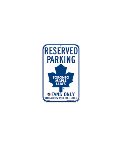 TORONTO MAPLE LEAFS RESERVED PARKING SIGN