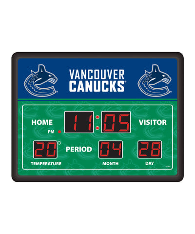 VANCOUVER CANUCKS DIGITAL SCOREBOARD CLOCK