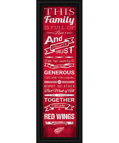 SPORTS ART COLLECTIONS DETROIT RED WINGS FRAMED FAMILY CHEER PRINT