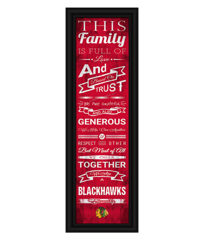 CHICAGO BLACKHAWKS FRAMED FAMILY CHEER PRINT