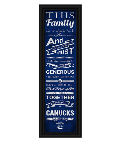 VANCOUVER CANUCKS FRAMED FAMILY CHEER PRINT